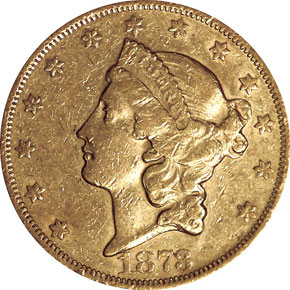 1873 CLOSED 3 $20 MS obverse