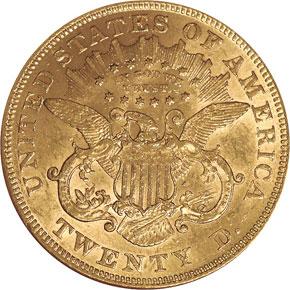 1875 $20 MS reverse