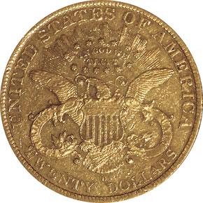 1879 O $20 MS reverse