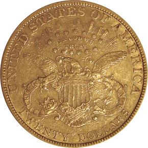 1880 $20 MS reverse