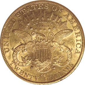1882 CC $20 MS reverse