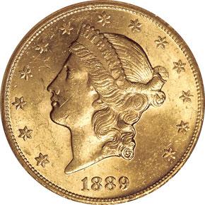 1889 CC $20 MS obverse