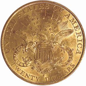 1892 S $20 MS reverse