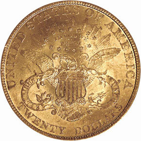 1893 $20 MS reverse
