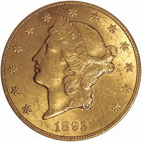 1893 CC $20 MS obverse