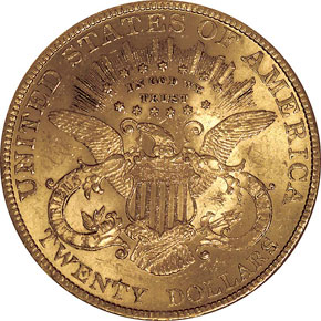 1894 $20 MS reverse