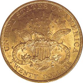1896 $20 MS reverse
