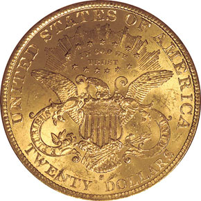 1897 S $20 MS reverse