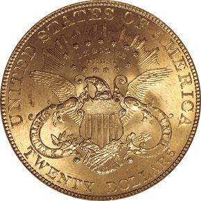 1901 $20 MS reverse