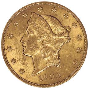 1906 $20 MS obverse