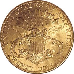 1907 S $20 MS reverse