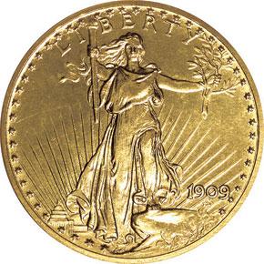 1909 $20 PF obverse