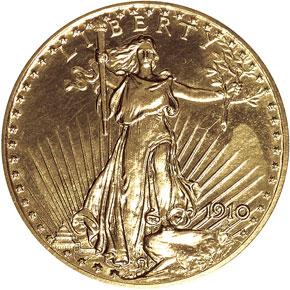 1910 $20 PF obverse