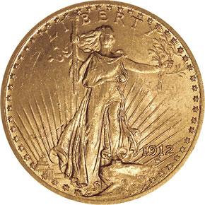 1912 $20 MS obverse