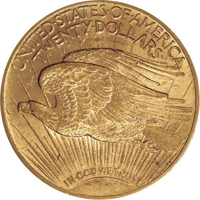 1912 $20 MS reverse