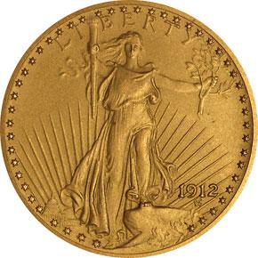 1912 $20 PF obverse