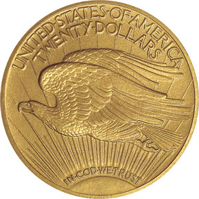 1913 $20 PF reverse