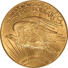 1914 $20 MS reverse
