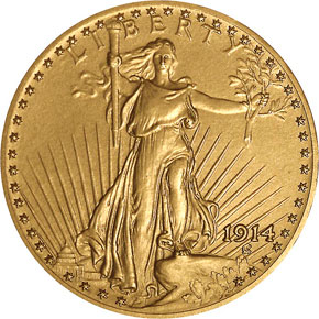 1914 $20 PF obverse