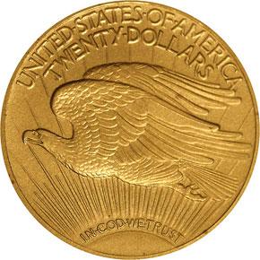 1915 $20 PF reverse