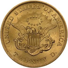 1851 $20 MS reverse