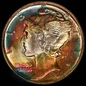 1939 D 10C MS obverse