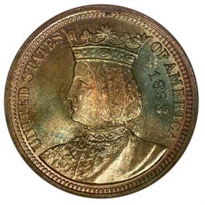1893 ISABELLA 25C MS obverse