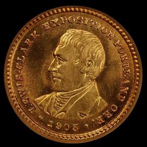 1905 LEWIS & CLARK G$1 MS obverse