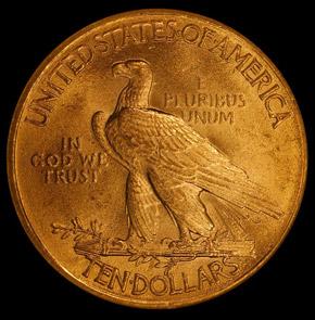 1911 $10 MS reverse