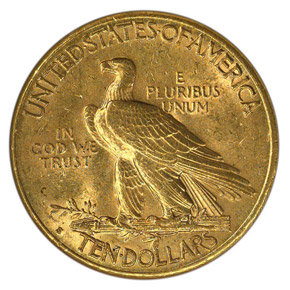 1910 S $10 MS reverse