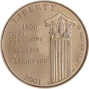 2001 W CAPITOL $5 MS obverse