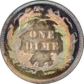 1882 10C PF reverse