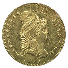1796/5 $5 MS obverse