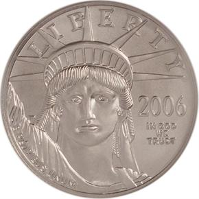 2006 W EAGLE P$50 MS obverse