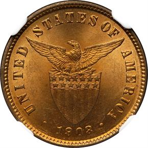 1903 USA-PHIL 1/2C MS reverse