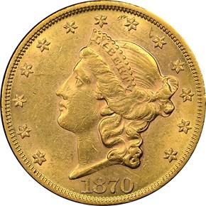 1870 $20 MS obverse