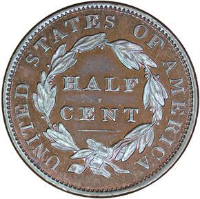 1833 1/2C PF reverse