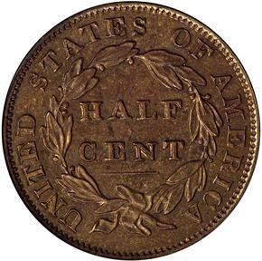 1834 1/2C PF reverse