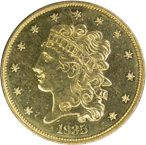 1835 $5 MS obverse