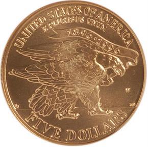 1995 W OLYMPICS STADIUM $5 MS reverse