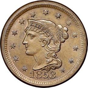1853 1C MS obverse