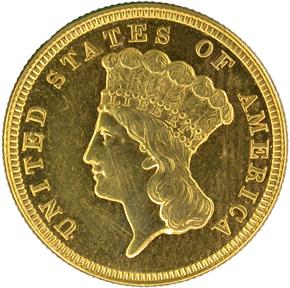1854 $3 PF obverse