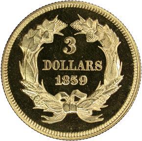 1859 $3 PF reverse