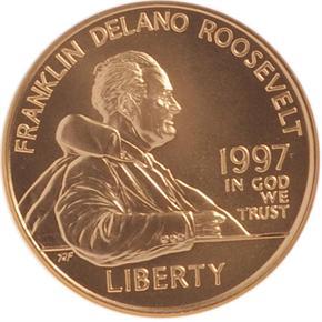 1997 W F.D. ROOSEVELT $5 MS obverse