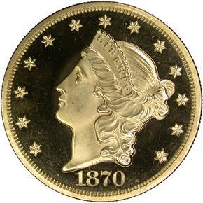 1870 $20 PF obverse