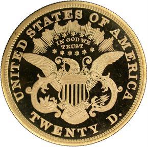 1870 $20 PF reverse