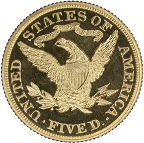 1881 $5 PF reverse
