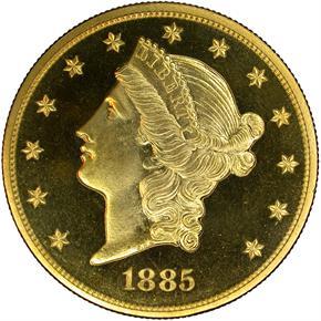 1885 $20 PF obverse