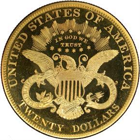 1885 $20 PF reverse
