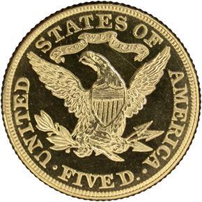 1892 $5 PF reverse